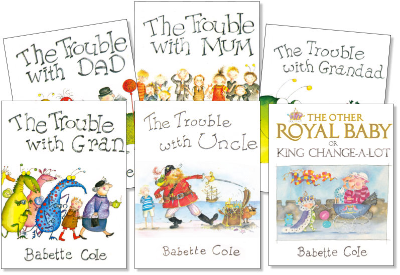 Babette Cole iBook covers - ibBook cover illustrations